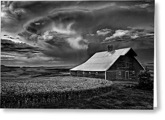 Idaho Scenery Greeting Cards - Storm Barn Greeting Card by Latah Trail Foundation