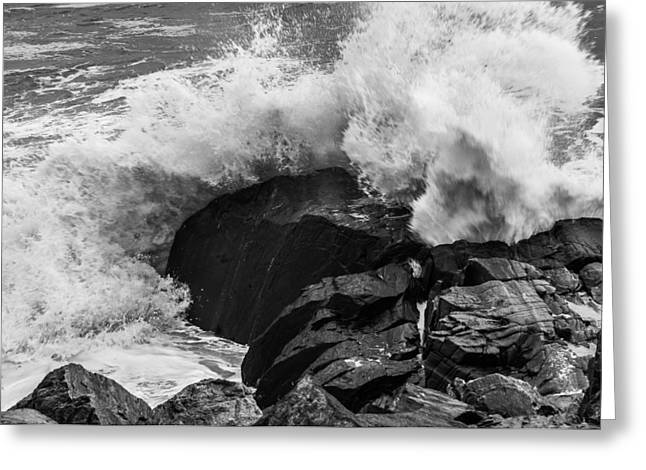 Hurricane Sandy Photographs Greeting Cards - Storm Breaker Greeting Card by Thomas Lavoie