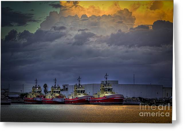 Storm Brewing Greeting Card by Marvin Spates
