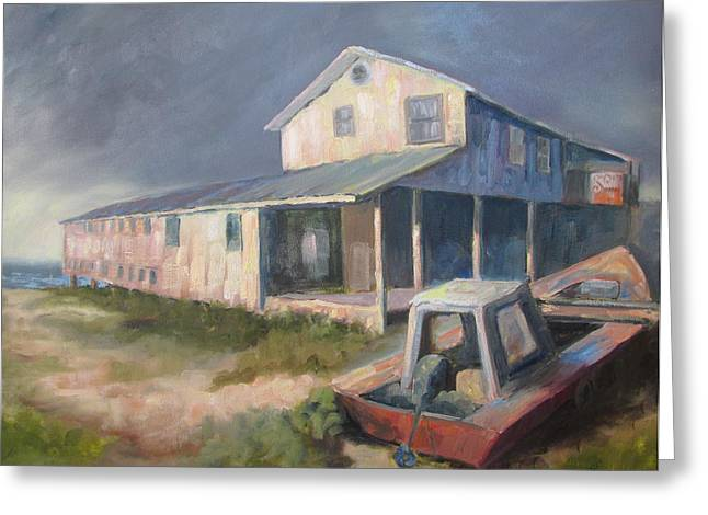 Apalachicola Seafood Greeting Cards - Storm Brewing Greeting Card by Susan Richardson