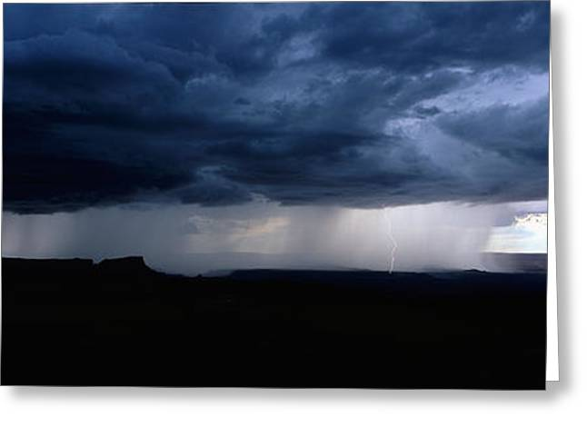 Summer Storm Greeting Cards - Storm, Canyonlands National Park, Utah Greeting Card by Panoramic Images