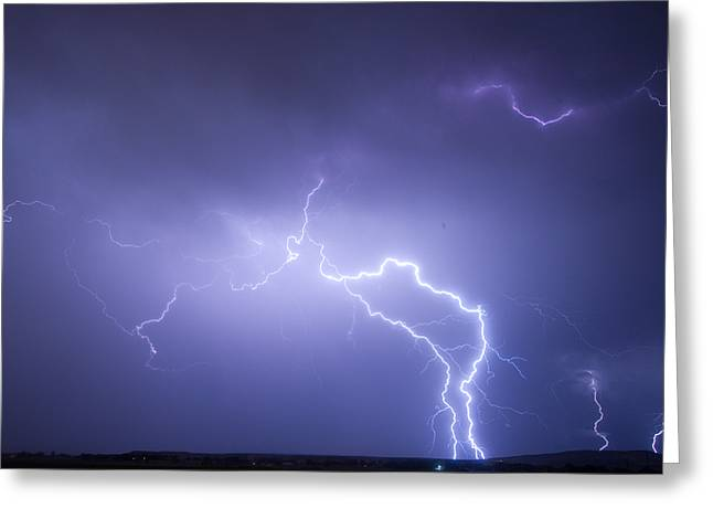 Lightning Photographer Greeting Cards - Storm Chase Six Twenty Eight Thirteen Greeting Card by James BO  Insogna