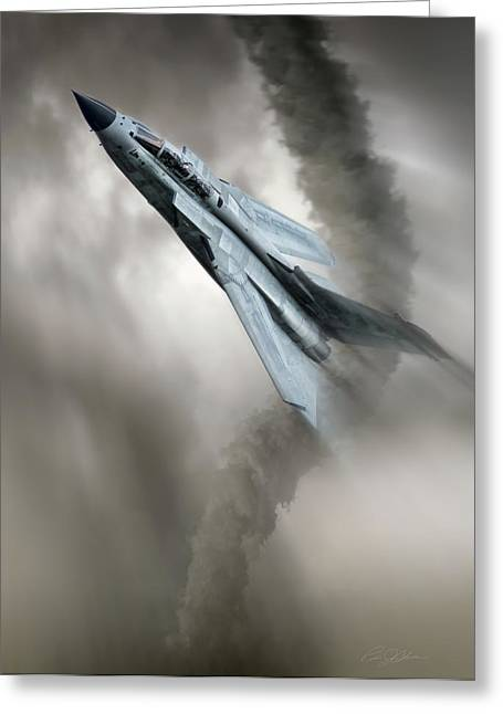 Storm Digital Art Greeting Cards - Storm Chaser Greeting Card by Peter Chilelli