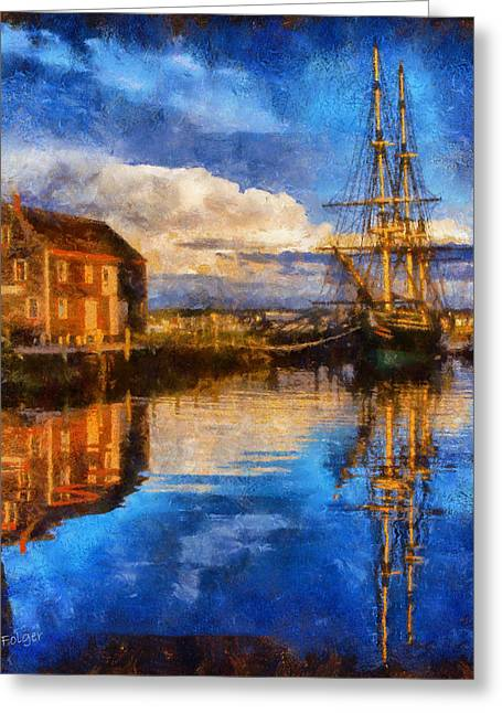 Shed Digital Art Greeting Cards - Storm clearing over Salem Greeting Card by Jeff Folger