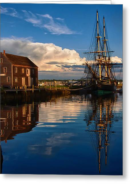 Tall Ships Greeting Cards - Storm clearing Friendship Greeting Card by Jeff Folger