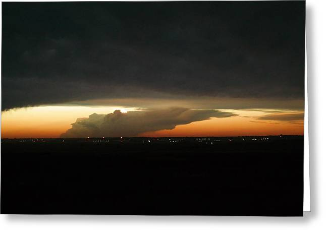 Storm Cloud Over Williston Greeting Card by Jeff Swan
