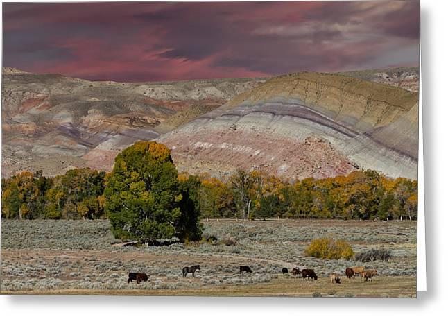 Bishop Hill Greeting Cards - Storm Clouds above the Wind River Basin Greeting Card by Kathleen Bishop
