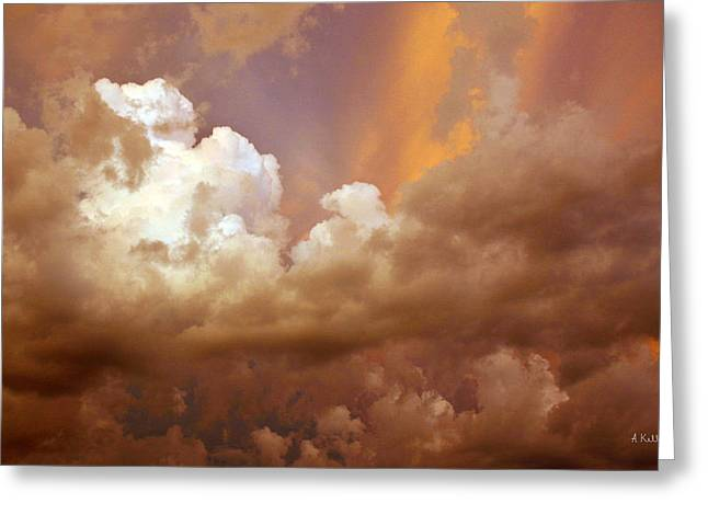 Storm Clouds Greeting Card by Andrea Kelley