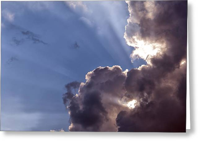 Summer Storm Greeting Cards - Storm Clouds Greeting Card by Antony McAulay