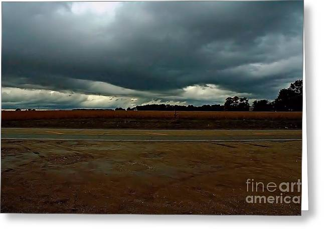 Lewistown Greeting Cards - Storm Clouds Greeting Card by Bob Fromm