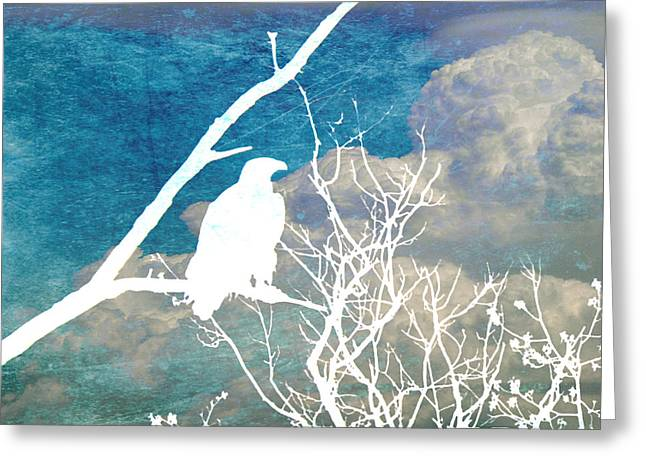 Sillouette Greeting Cards - Storm Clouds Brewing Greeting Card by Nomad Art And  Design