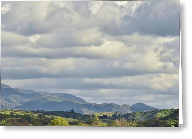 Clouds Over Canyon Greeting Cards - Storm Clouds from Santiago Canyon Road II Greeting Card by Linda Brody