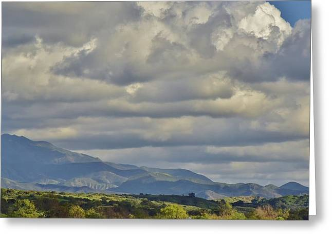 Clouds Over Canyon Greeting Cards - Storm Clouds from Santiago Canyon Road III Greeting Card by Linda Brody