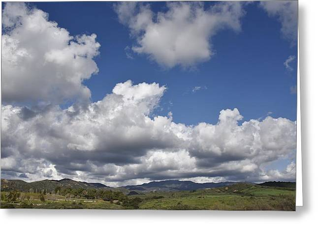 Clouds Over Canyon Greeting Cards - Storm Clouds from Santiago Canyon Road Greeting Card by Linda Brody