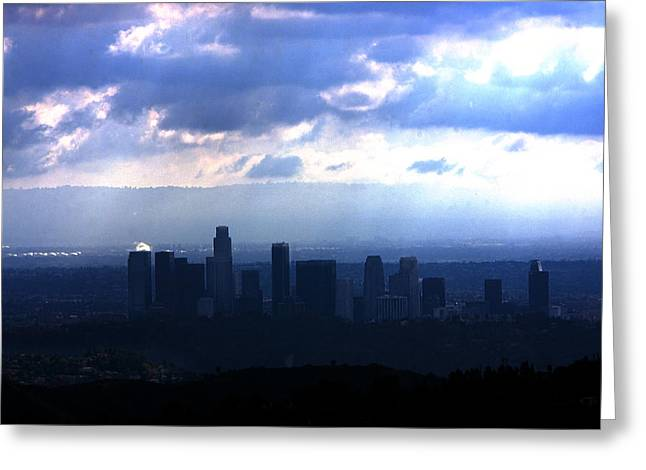 Silhouettes Greeting Cards - Storm Clouds  Greeting Card by Gilbert Artiaga