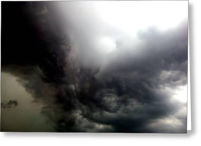Storm Clouds Pyrography Greeting Cards - Storm Clouds Greeting Card by Hari G