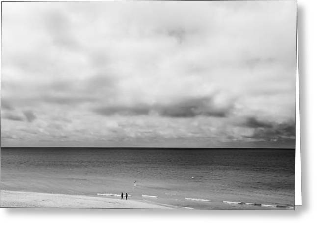 Beach Photographs Greeting Cards - Storm Clouds in the Horizon Greeting Card by Shelby  Young