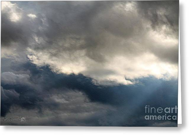 Storm Prints Digital Greeting Cards - Storm Clouds Greeting Card by J McCombie