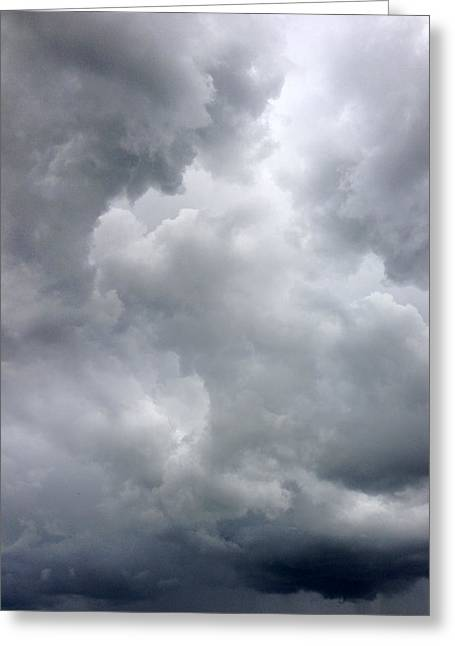 Thunderstorm Greeting Cards - Storm clouds Greeting Card by Les Cunliffe