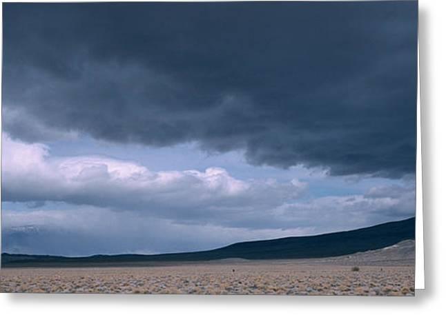 Storm Clouds Greeting Cards - Storm Clouds Over A Desert, Inyo Greeting Card by Panoramic Images