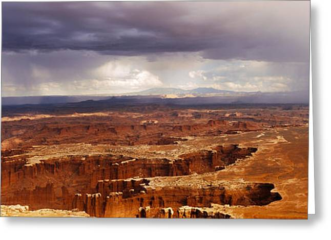 Utah Weather Greeting Cards - Storm Clouds Over Canyonlands National Greeting Card by Panoramic Images