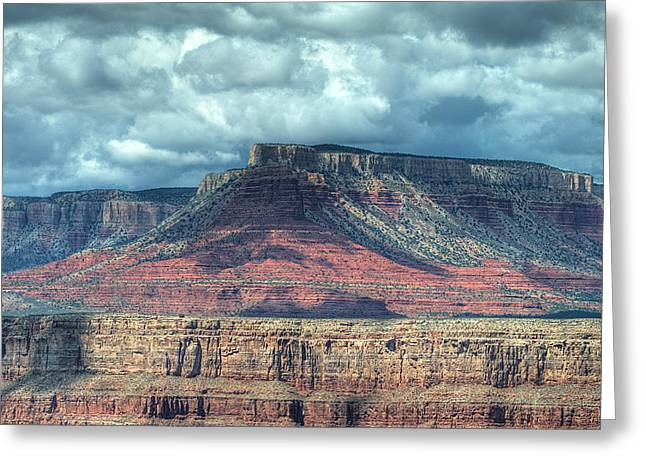 Storm Clouds Over Grand Canyon Greeting Card by Donna Doherty