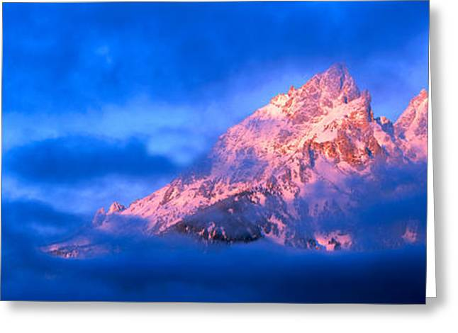Mountain Greeting Cards - Storm Clouds Over Mountains, Cathedral Greeting Card by Panoramic Images
