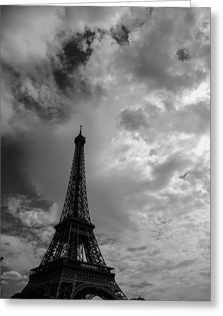 Storm Clouds Over Paris Greeting Card by Mountain Dreams