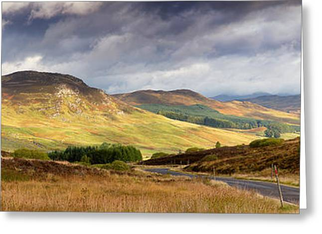 Roadway Greeting Cards - Storm clouds over the Glen Greeting Card by Jane Rix