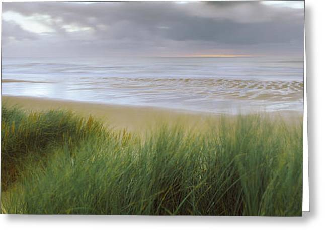 Overcast Day Greeting Cards - Storm Clouds Over The Sea, Newburgh Greeting Card by Panoramic Images
