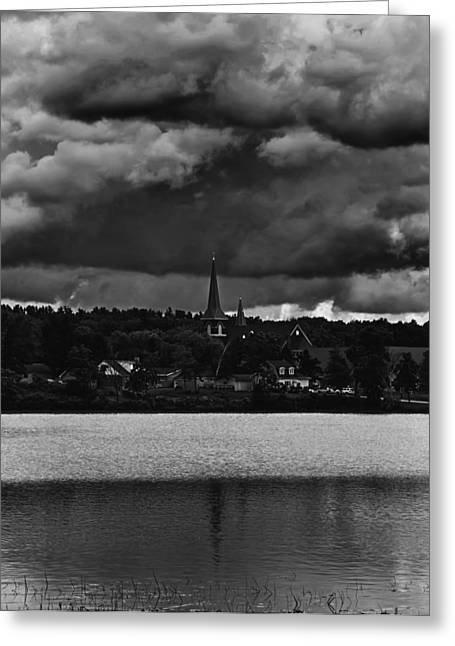 Evangelical Greeting Cards - Storm Clouds Over Weyauwega Greeting Card by Thomas Young