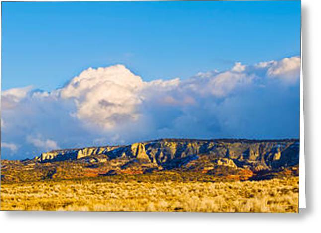 Storm Clouds Greeting Cards - Storm Clouds Over White Mesa, San Juan Greeting Card by Panoramic Images