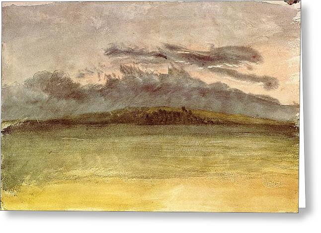 Jmw Greeting Cards - Storm Clouds Sunset 1825 Greeting Card by Joseph Mallord William Turner