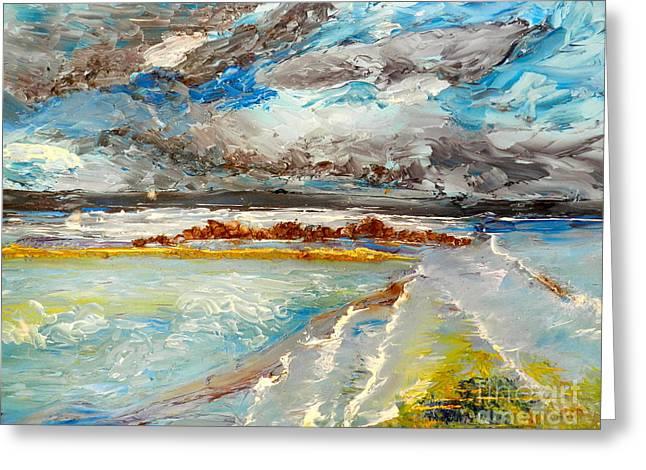Pamela Meredith Greeting Cards - Storm Coming at Austinmer Beach Greeting Card by Pamela  Meredith