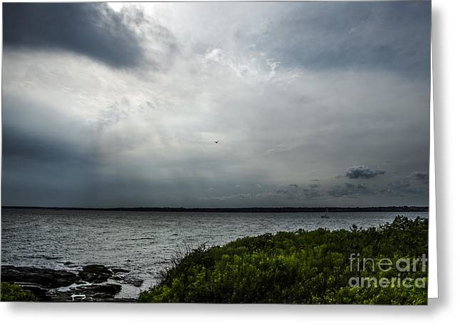 Thunderstorm Greeting Cards - Storm Coming In Greeting Card by Diane Diederich