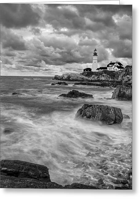 Ocean Black And White Prints Greeting Cards - Storm Coming Greeting Card by Jon Glaser