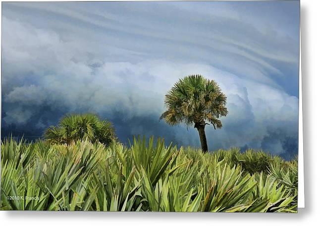 Francis Greeting Cards - Storm Coming Greeting Card by Kenny Francis