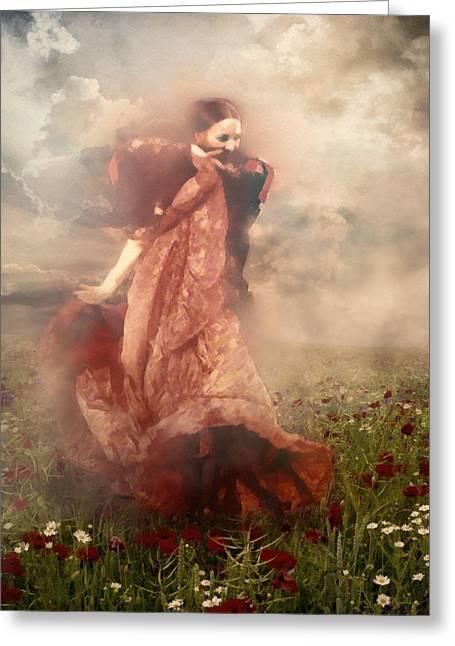 Spanish Dancer Greeting Cards - Storm Dancer Greeting Card by Georgiana Romanovna