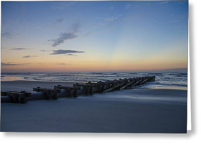 Drain Greeting Cards - Storm Drain - North Wildwood Greeting Card by Bill Cannon