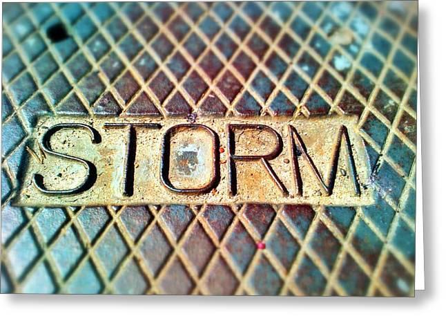 Drain Digital Art Greeting Cards - Storm drain Greeting Card by Olivier Calas