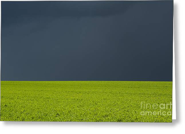 Stormy Clouds Greeting Cards - Storm Field Abstract Greeting Card by Tim Gainey