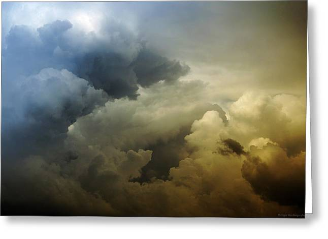 Himmel Greeting Cards - Storm gathering Greeting Card by Philippe Meisburger