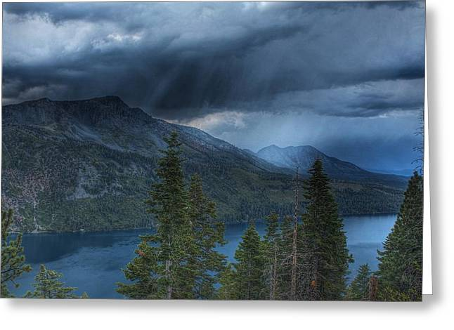 Angora Lakes Greeting Cards - Storm Head Greeting Card by Michael Breshears