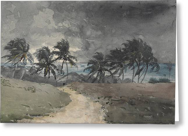 Recently Sold -  - Beach Landscape Greeting Cards - STORM in BAHAMAS Greeting Card by Celestial Images
