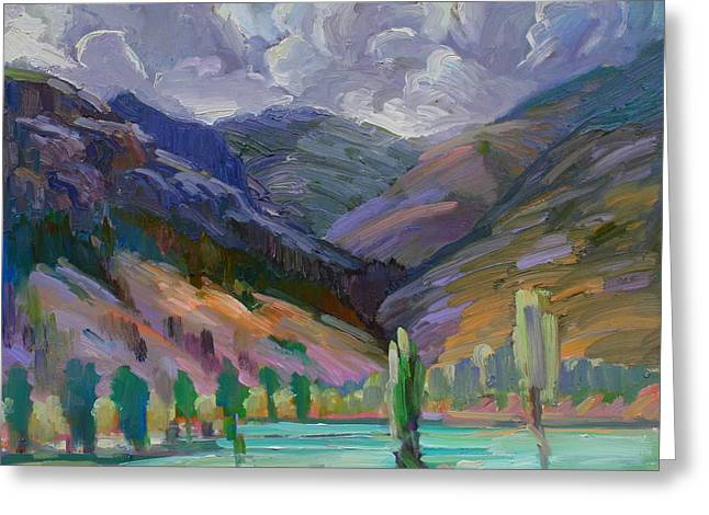 Pleinair Greeting Cards - Storm in the Mountains Greeting Card by Gregg Caudell