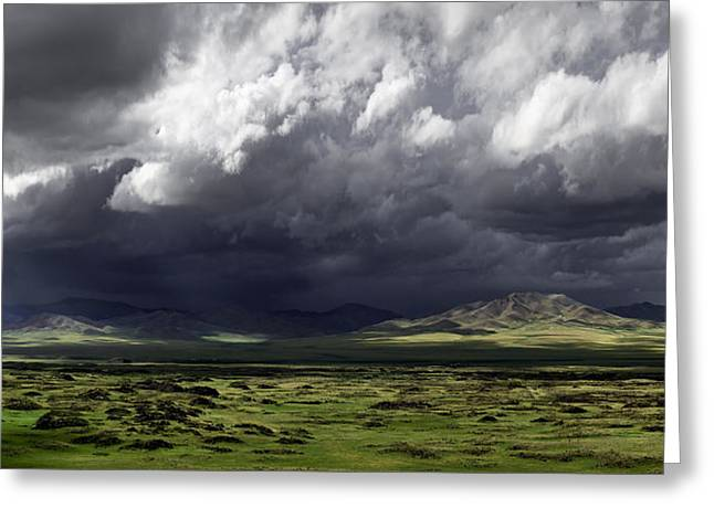 River Valley Greeting Cards - Storm In The Valley Greeting Card by Leah Kennedy