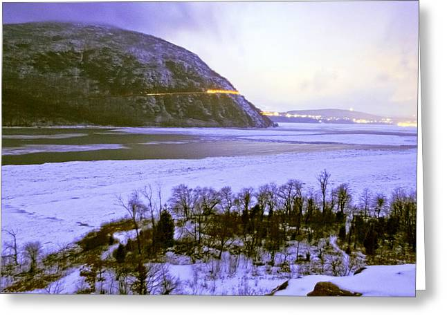 Storm King On The Hudson Greeting Card by Michael Lanier