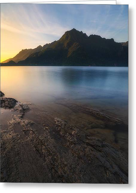 Lake Crescent Greeting Cards - Storm King Rising Greeting Card by Ryan Manuel