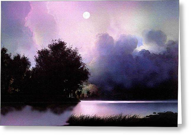 Storm Prints Digital Greeting Cards - Storm Lake Greeting Card by Robert Foster