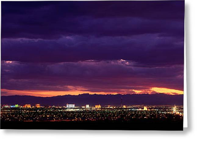 Thunderstorm Greeting Cards - Storm, Las Vegas, Nevada, Usa Greeting Card by Panoramic Images
